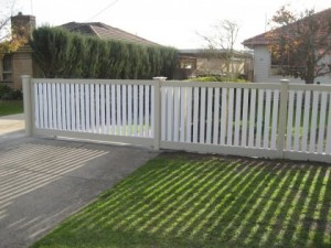PVC picket fences