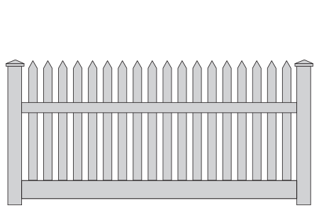 Pvc Picket Fencing Overview Think Fencing Australia