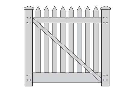 picket-single-gate