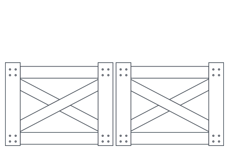 post-and-rail-double-gate-crossbuck